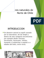 Desastres Naturales de Norte de Chile