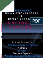 Exposicion de Psicologia 2 Motivacion y Emocion2