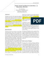 Designing a Gesture Based Touchscreen Interface- A Literature Review
