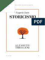 GARIN, Eugenio. Storicismo.
