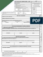 Form. de Solicitud 2 - Actas de Verificacion