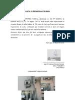 Carta de Seguridad de Obra Regularizacion