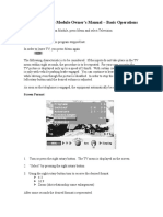 BMW TV Module Owners Manual