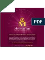 Monetarium Brochure