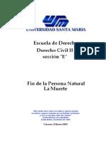 Derecho Civil II Tema 11 La Muerte