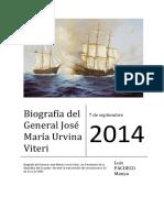 General Don Josu00e9 Maru00eda Urvina Viteri, Por Luis Pacheco Manya, Suboficial Primero de La Armada Del Ecuador
