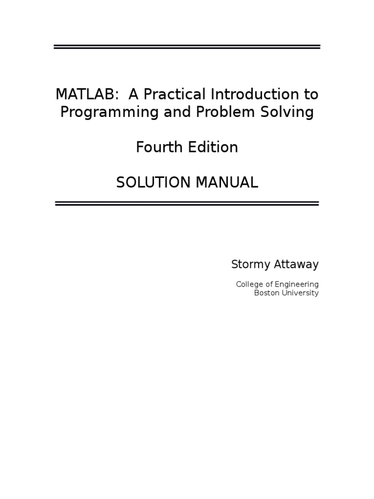 Attaway 4e solution manual array data structure matrix mathematics fandeluxe Image collections