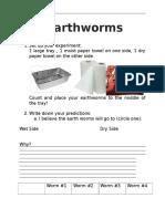 earthworm inquiry