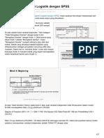 Statistikian.com-Interprestasi Regresi Logistik Dengan SPSS