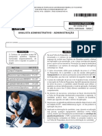 Instituto Aocp 2015 Ebserh Analista Administrativo Administracao Hdt Uft Prova