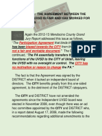 THE AGREEMENT BETWEEN THE CITY AND THE UVSD IS FAIR AND HAS WORKED FOR OVER 50 YEARS.