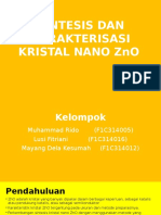 Sintesis Dan Karakterisasi Kristal Nano Zno