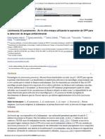 Leishmania (v) Panamensis_ Un Ensayo in Vitro Utilizando La Expresión de GFP Para La Detección de Drogas Antileishmanial