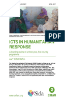 ICTs in Humanitarian Response: A learning review of a three-year, five-country programme