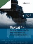 Manua Public Health Management Chemical Incidents