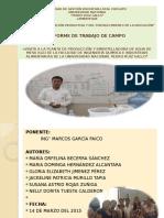 Agua de Mesa Informedecampo-uprg Chiclayo