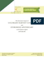 Colorado Harvest Company Economic Impact Study