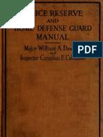 (1918) Police Reserve & Home Defense Guard Manual