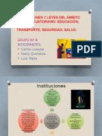 Instituciones y Leyes Del Ámbito Social Ecuatoriano