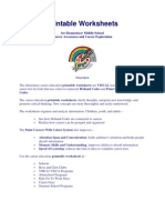 Career Exploration Printable Worksheets