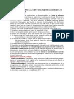 Factores Diferenciales Entre Los Diversos Modelos de Intervención