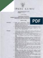 SK Bupati Luwu TimSel KDL 2010