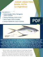 Uji Analisis Kadar Lemak Pada Ikan Bawal Putih