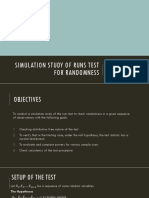 Simulation Study of Runs Test for Randomness