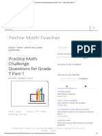 Practice Math Challenge Questions for Grade 7 Part 1