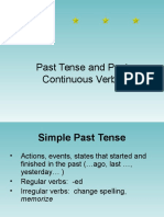 Past Tense and Past Continuous Verbs