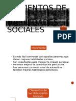 Elementos de Las Habilidades Sociales