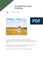 10 4 Estrategias Facile Para Crear Emociones Positivas