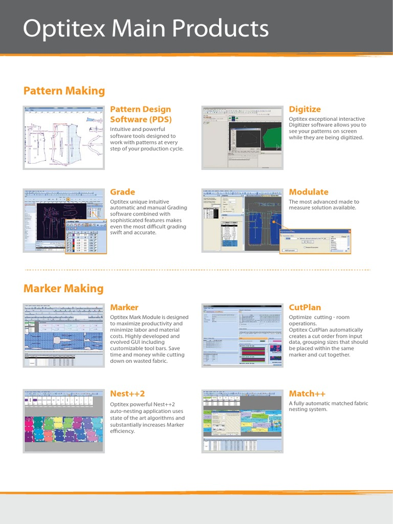 210413057-Optitex-Main-Products-Brochure pdf | 3 D Computer