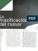 La Masificaciòn Del Rumor