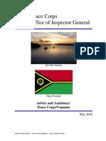 Peace Corps Vanuatu - Memorandum Report - Advice and Assistance |  May 2010   SR