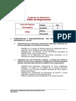 Programa TDN01 Taller de Negociacion