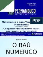 Conjuntos dos números reais operações, propriedades, aplicações e reta numérica.pptx