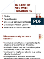 Nursing Care of Patients With Anxiety Disorders