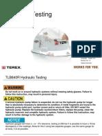TLB840R Hydraulic Pressure Testing