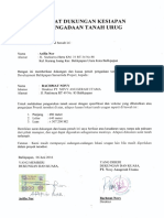 Surat Pernyataan Dukungan Tanah Urug