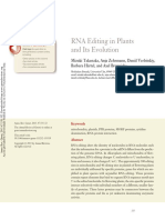 RNA Editing in Plants and Its Evolution