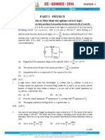 Jee Adv 2014 Code-A Question Paper-1