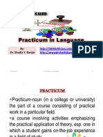 Practicum in Language, By Dr. Shadia Yousef Banjar