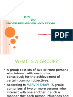 Group Behaviour and Teams Pppt