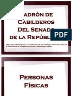 ¿Quiénes son los cabilderos del Senado de la República?