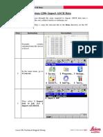 Quick Guide System 1200 - Import ASCII Data