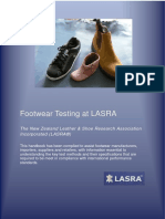 Footwear Testing at LASRA BOOKLET