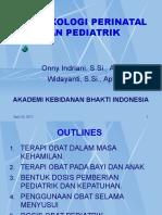 2. Farmakologi Perinatal Dan Pediatrik