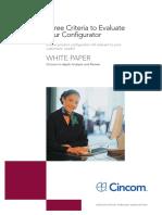 3 Criteria to Eveluate Configurator