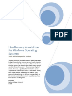 Live Memory Acquisition for Windows Operating Systems, Naja Davis